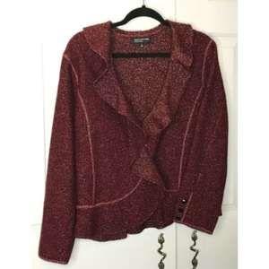 Jones New York Collection Red Holiday Blazer XL